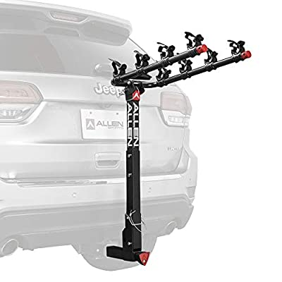 "Allen Sports Deluxe Locking Quick Release 4-Bike Carrier for 2"" Hitch, Model 542QR,Black"