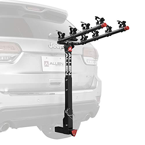 Allen Sports Deluxe Locking Quick Release 4-Bike Carrier for 2 Inch Hitch, Model 542QR, Black