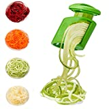 Vegetable Spiralizer Handheld, 2-in-1 Zucchini Spaghetti Maker Zoodle Noodle Maker, Veggie Spiralizer Slicer