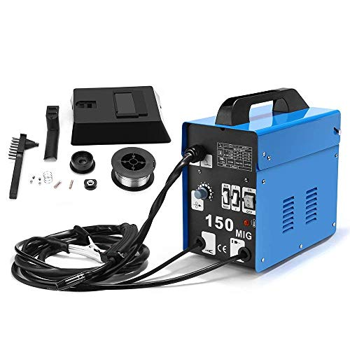 SUNGOLDPOWER MIG 150A Welder Flux Core Wire Automatic Feed Welding AC Welder Gasless Machine Free Mask NO Gas