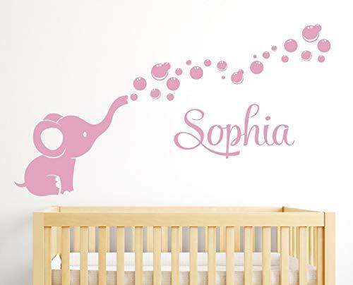 Adhesivo personalizado para pared, diseño de burbujas de elefante, 100 cm de ancho