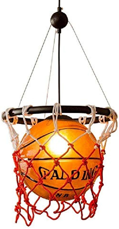 FAJZF Pendelleuchte Klassisches Design Basketball Kronleuchter Spa Kinderzimmerlampe (Ohne Glühlampe)