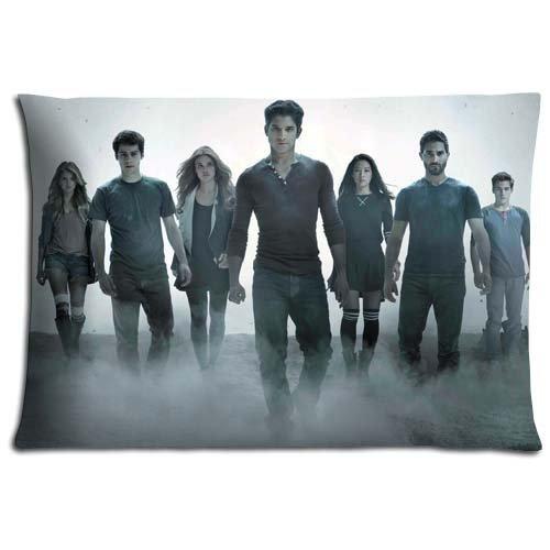 KASPL Cushion Pillow Case Polyester Cotton Imported Attractive Teen Wolf Copricuscini e federe (50cmx65cm)
