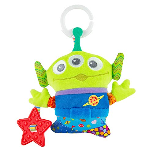 LAMAZE Disney/Pixar Toy Story Clip & Go Alien Baby Toy with Stroller Clip for Sensory Play