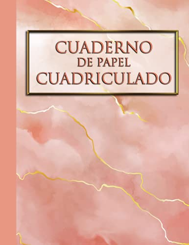 Cuaderno de papel cuadriculado 4x4 Mármol: Libreta Cuadriculada de Mármol A4 con 120 hojas ideal para estudiantes de matemáticas o ciencias