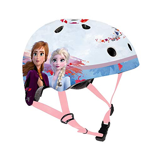 Disney Frozen II Casco da Bicicletta Nut Bambino - Il segreto di Arendelle Frozen 2 Casco di Protezione per Bambini Taglia Regolabile 53-55 cm