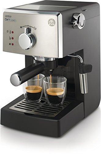 Saeco Poemia Class HD8425/11 - Máquina de café espresso manual para café molido y monodosis E.S.E, 950 W, color negro y...