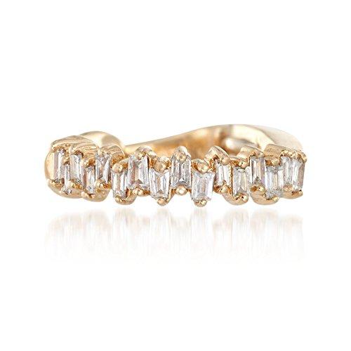 Ross-Simons 0.10 ct. t.w. Baguette Diamond Single Ear Cuff in 14kt Yellow Gold