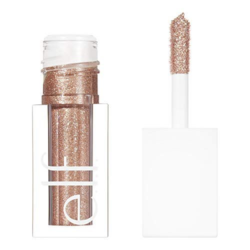 e.l.f, Liquid Glitter Eyeshadow, Long Lasting, Quick-Drying, Opaque, Gel-Based Formula, Creates High-Impact, Multi-Dimensional Eye Looks, Flirty Birdy, 0.10 Fl Oz