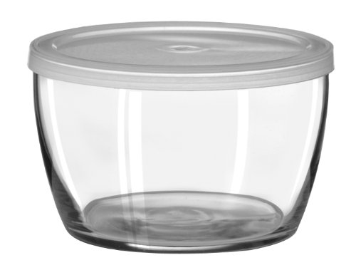 Libbey 70300 Bowl with Plastic Lid, 12 Piece, Clear