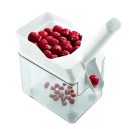 Leifheit 37200 Cherry Pitter with Stone Catcher Container | Cherry Stone Remover Tool