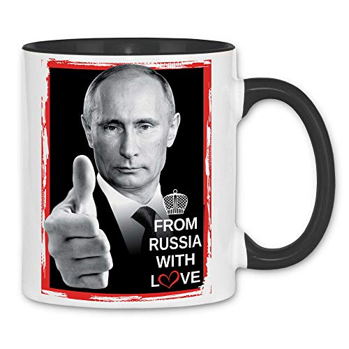 Royal Shirt rs48 Tasse From Russia with love | Russland Präsident Moskau, Farbe :White - Black