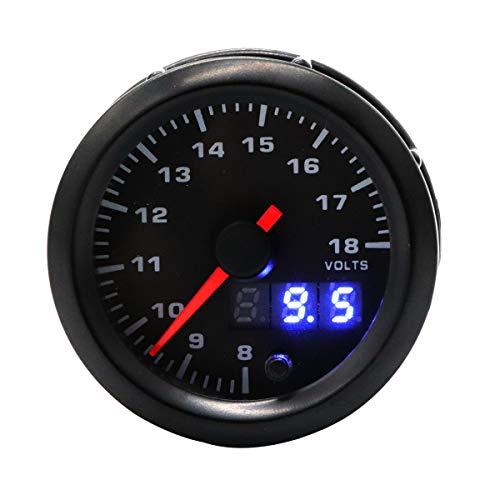 VOSAREA Voltmètre réglable 7-18V de rétro-éclairage de Couleur Automatique d'instrument de Voiture 12V 7