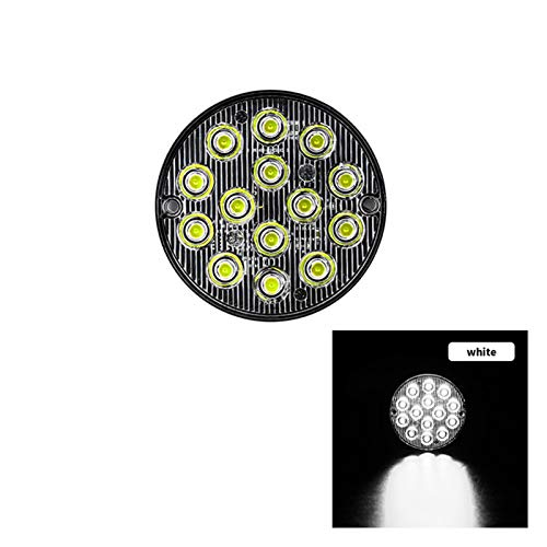 NERR YULUBAIHUO 1 unids LED Redondo Spotlight Trailer Trailer LED FSO Flash Lights Camión Luces estroboscópicas Luces de Emergencia Stroboscopios para Auto Auto (Color : CA517 W)