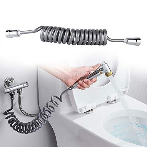 Xinwoer Bidet Rociador Manguera Tubo para Inodoro Línea telefónica Estilo Flexible Manguera de Ducha Inodoro Bidet Spray Accesorios de baño G1/2', para Mujeres Partes privadas limpias