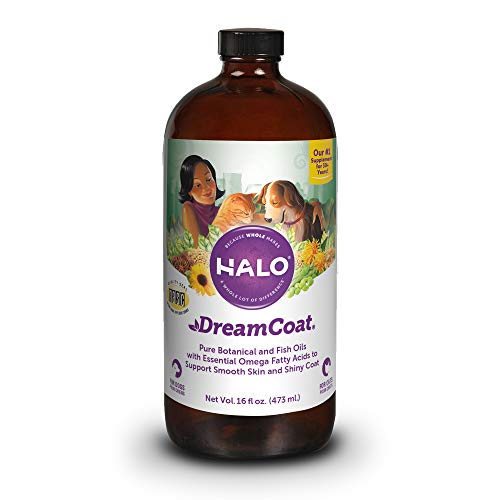 Halo Dream Coat Natural Omega Fatty Acids Supplement for Dogs & Cats, 16-Ounce Bottle