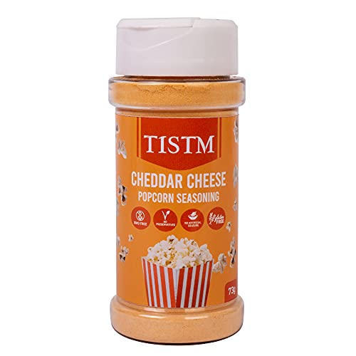 Delicious Cheddar Cheese Popcorn Seasoning - For Microwave Popcorn, Popcorn Machines and More - Upgrade Movie Night with Cheesy Popcorn Flavouring - All Natural Popcorn Topping with Easy to Use Shaker
