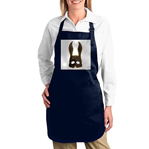 NULLIAHSGB Braune Spleißer Bunny Maske Bioshock Heavy Duty Canvas Arbeitsschürze, Werkzeugtaschen, Rückengurte verstellbar
