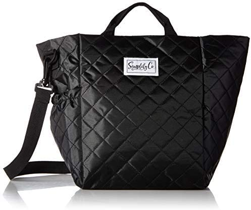 Simplily Co Insulated Lunch Bag with Shoulder Strap and Drink Side Pocket Black 11 inches tall product image
