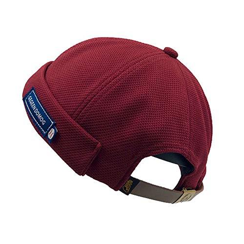 Clape Solid French Brimless Hat Kufi Hats Docker Leon Watch Cap Sailor Skullcap Beanie Hat