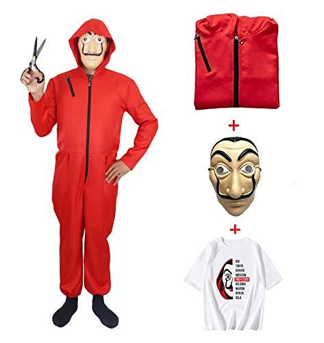 ZHANGXX Casa kostuum, Halloween, carnaval, party dress up papel masker kleding