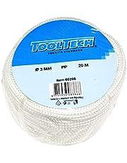 Plastic touw PP polypropyleen polytouw wit 20mx3mm