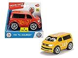 Dickie Toys VW T6 Squeezy mit knautschbarer Karosserie, weicher, knautschbarer Body, farbecht und speichelfest, abgerundete Kanten, 2-fach sortiert, 11 cm