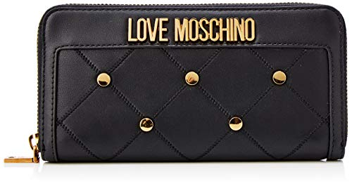 Love Moschino Damen Jc5615pp1a Geldbörse, Schwarz (Nero), 2x10x19 centimeters