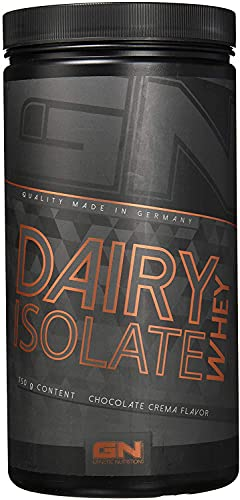 GN Laboratories 100% Dairy Isolate - aislado de proteína de suero microfiltrado - batido de proteínas para la musculación - 750g (Vanilla Crema-Crema de vainilla)