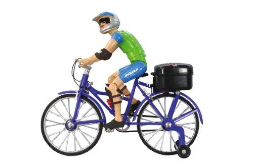 Jamara 402090 - Fahrrad mit Sound - Beweglicher Kopf, realistische Tretbewegung, Musik, Licht