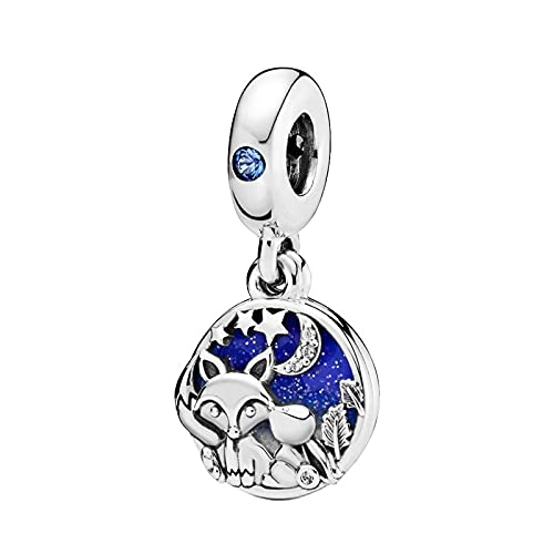 Pandora Charm 925 Sterling Silver Genuine Fox And Bunny Pulsera Original Brazalete Fabricación Moda Diy Joyería Hermosa Mujer Regalo Conmemorativo