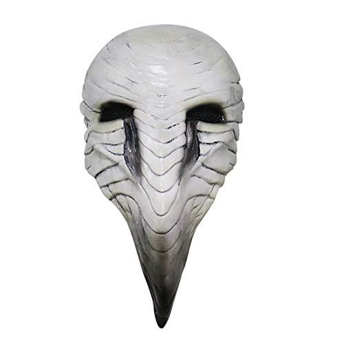 AeasyG Plague Doctor Crow Mask Leuchtende Steampunk-Vogelschnabelmaske mit langer Nase für Halloween-Kostüme Cosplay Masquerade Party