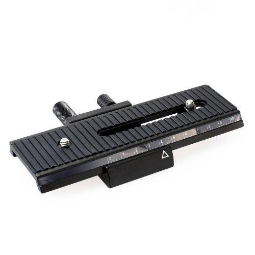 Enjoyyourcamera, Quenox/Fotomate LP-01 Makro/Stereo-Einstellschlitten für kleine DSLRs, Systemkameras und Kompaktkameras, Verstellweg 10 cm