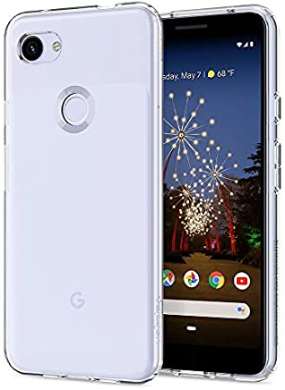 【Spigen】 スマホケース Google Pixel 3a ケース 対応 TPU クリア 薄型 軽量 リキッド・クリスタル F23CS25961 (クリスタル・クリア)