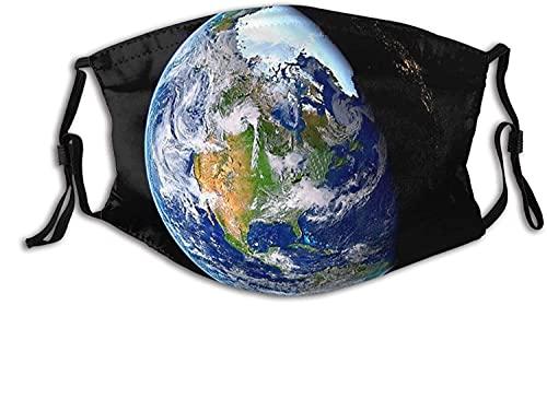 YRUI Planet Earth Picture from Space - Máscara facial transpirable para adultos, para el cuello, bufanda facial, cortavientos, transpirable, pesca, senderismo, correr, ciclismo