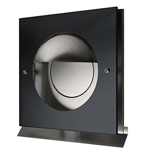 Edelstahl Überdruck Abluftgitter LG Kappa-S 150 Schwarz Pulverbeschichtet DN 150 mit Schwarzer UV-Beständiger Blende