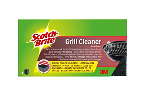 Scotch-Brite GCNS1 Grill-Reiniger BBQ, scheuerstark für die Grillreinigung, schwarz,  3er Pack (3 x 1 Stück)