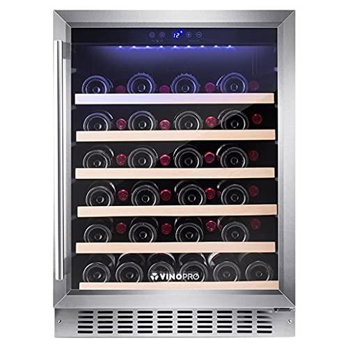 28 Botella de gabinete de Vino del compresor, refrigerador de Vino Independiente Grande, Puerta de Vidrio Templado con Cerradura, refrigerador de Control de Temperatura Digital LED