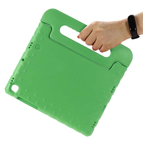 RZL PAD & TAB cases For Samsung Galaxy Tab S5E 10.5 Inch SM-T720 T725, Hand-held Shock Proof EVA Full Body Cover Handle Stand Case For Samsung Galaxy Tab S5E 10.5 Inch (Color : Green)
