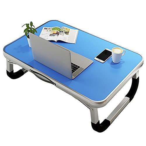 ZZL Escritorio de Cama de portátil con Mango de Bandeja portátil para la Cama de la Cama de la Cama de la Lectura de la Mesa de sofá para el sofá Sofá del Piso escribiendo (Color : Blue)