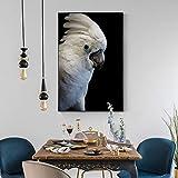 Arte de la Pared Pintura de la Lona Carteles e Impresiones de Animales Arte en Blanco y Negro Imágenes de la Pared del pájaro para la Sala Decoración del hogar Imagen 60x90cm