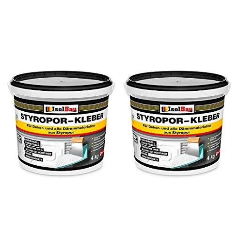 Styroporkleber Styropor- und Renoviervlieskleber 8 kg Deckenplatten Kleber