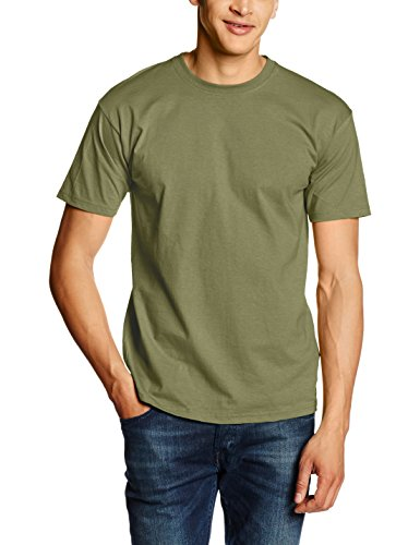 Fruit of the Loom Valueweight Short Sleeve T-Shirt, Oliva Classica, M Uomo