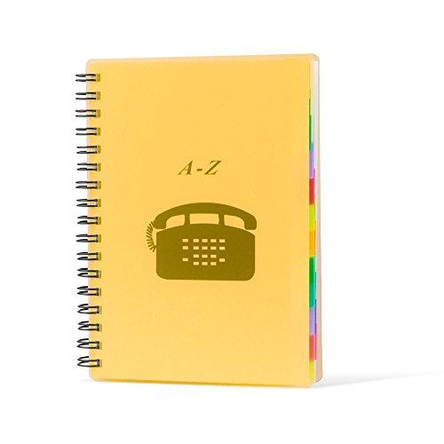 Pryse 4190023 - Índice teléfono, 303 x 215 mm, color naranja