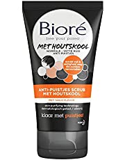 Bioré Anti-Puistjes Scrub met Houtskool voor een normale tot vette huid - 125 ml