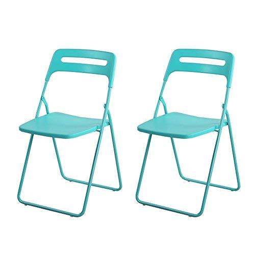 GPWDSN Plastic vouwkampeerstoel voor binnen en buiten - 4 stuks (kleur: roze)