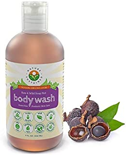 Probiotic Sensitive Skin Natural Body Wash & Face Wash [Unscented] – Raw Probiotic Soapberry Formula for Eczema & Psoriasis - Wild Plants Selected for Sensitive & Dry Skin