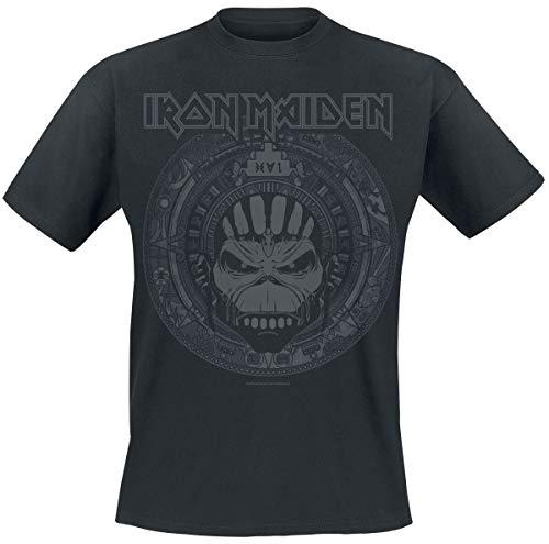 Iron Maiden Book of Souls Skull Uomo T-Shirt Nero XL 100% Cotone Regular