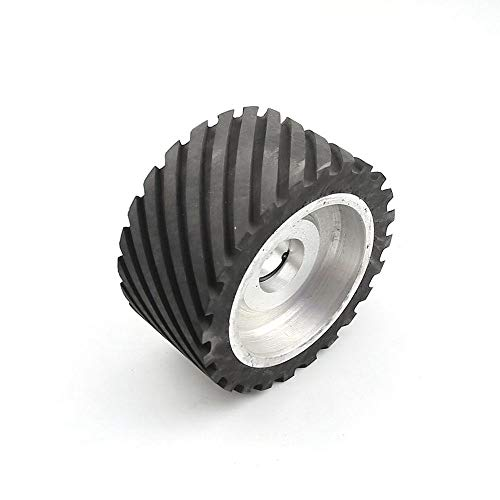 Rueda de contacto de goma dentada de 150 * 75 mm, lijadora de banda equilibrada dinámicamente, juego de banda delijado de rueda, para rodamientos 6202