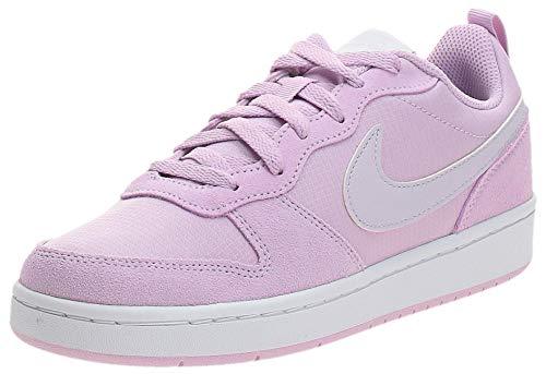 Nike Court Borough Low 2 PE (GS), Scarpe da Ginnastica Unisex-Bambini, Viola Iced Lilac Barely Grape White 500, 35.5 EU